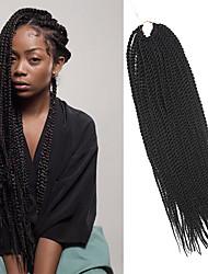 Senegal Trecce Twist Extensions per i capelli 20Inch Kanekalon 35 Strands (Recommended By 3 Packs for a Full Head) filo 98g grammocapelli