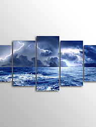 cheap -Rolled Canvas Prints Landscape Modern, Five Panels Canvas Horizontal Print Wall Decor Home Decoration