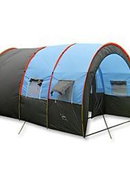 5-8 Pessoas Tenda Barraca Túnel Único Barraca de acampamento Dois Quartos Barracas para Acampamento Família Prova-de-Água Portátil A
