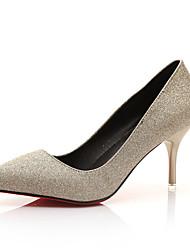 economico -Da donna-Tacchi-CasualA stiletto-Finta pelle-Oro Nero Azzurro chiaro