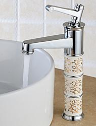 Moderna Conjunto Central Separada Válvula Cerâmica Uma Abertura Monocomando e Uma Abertura Cromado , Torneira pia do banheiro