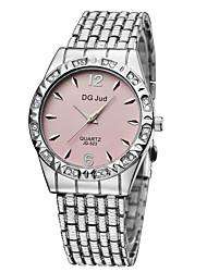 cheap -Men's / Women's / Couple's Fashion Watch / Simulated Diamond Watch Alloy Band Silver / Gold
