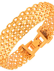 cheap -New Fashion Men's Bracelets High Quality 18k Gold Plated Women Fashion India Jewelry Bangles Chain Gifts B40107