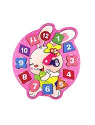 Недорогие -Ролевые игры Деревянные часы Обучающая игрушка 1 pcs Часы Оригинальные Образование Мультяшная тематика Мальчики Девочки Игрушки Подарок