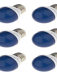 E27 Круглые LED лампы G45 6 SMD 2835 250 lm Красный Синий Желтый Зеленый - К Декоративная AC220 V