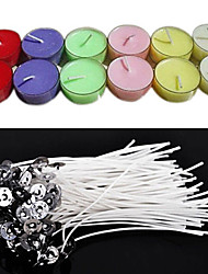 cheap -50Pcs/Set 20Cm Quality Candle Wicks Cotton Core Waxed With Sustainers For Diy Making Candles Gifts