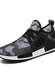 economico -Per uomo Tulle Primavera / Autunno Comoda Sneakers Footing Nero / Verde militare