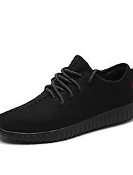 abordables -Homme Chaussures Toile Printemps Automne Confort Basket Marche Combinaison Lacet pour Athlétique Décontracté De plein air Noir