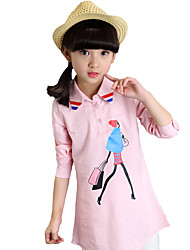 Girl Casual/Daily Print Shirt,Cotton All Seasons Spring Fall Long Sleeve