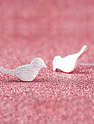 cheap -Silver Plated Stud Earrings - Cute Style Bird Animal For Wedding Party Daily Casual
