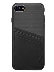 Per Porta-carte di credito Resistente agli urti Custodia Custodia posteriore Custodia Tinta unita Resistente PC per AppleiPhone 7 Plus