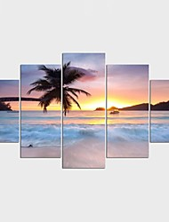 cheap -Landscape Leisure Style Modern,Five Panels Canvas Any Shape Print Wall Decor For Home Decoration