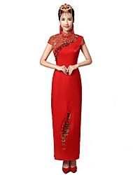 cheap -Classic/Traditional Lolita Vintage Inspired Elegant Cosplay Lolita Dress Print Short Sleeves Dress For Terylene