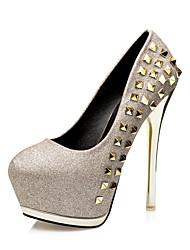 Da donna-Tacchi-Matrimonio Serata e festa-Light Up Shoes-A stiletto-Lustrini PU (Poliuretano)-Oro Nero Argento Rosa