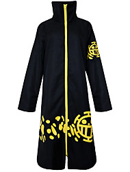 cheap -Inspired by One Piece Trafalgar Law Anime Cosplay Costumes Cosplay Suits Vintage Long Sleeves Cloak For Unisex