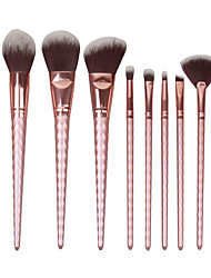 cheap -YZIMENG® 8pcs Rose Gold Unicorn Makeup Brush Set Blush/Eyeshadow/Lip/Eyebrow/Concealer/Powder Synthetic Hair Portable Make Up for Face