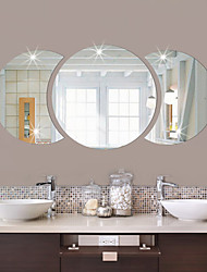 Round Shape DIY Mirror Wall Stickers Home Decoration Wall Decal