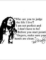 cheap -Bob Marley Wall Stickers Who are You to Judge the Life I Live Quotes Wall Decals Home Decor