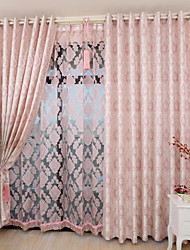 Two Panels Lovely Romantic Style Jacquard Curtains Living Room Bedroom Dining Room curtains