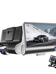 Недорогие -новый трехсторонний камера 4,0-дюймовый полный HD 1080p двойной объектив регулируемые 170 градусов широкоугольный Автомобильный
