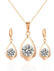 cheap -Women's Wedding Party Daily Acrylic Rhinestone Alloy 1 Necklace 1 Pair of Earrings