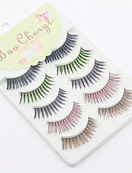 cheap -Eyelashes Full Strip Lashes Eyes Crisscross Lifted lashes Volumized Curly Handmade Fiber Black Band