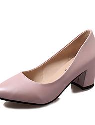 Damen High Heels Komfort Slouch Stiefel PU Herbst Winter Normal Komfort Slouch Stiefel Schnürsenkel Niedriger Absatz Weiß Schwarz Rosa2,5