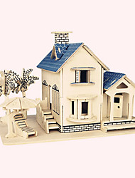 cheap -Jigsaw Puzzles Wooden Puzzles Building Blocks DIY Toys  Ocean Villa 1 Wood Ivory Model & Building Toy