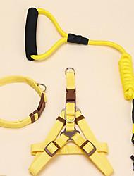 cheap -Cat Dog Collar Harness Leash Adjustable / Retractable Solid Nylon Black Purple Yellow Red Blue