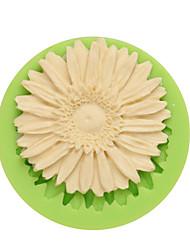 Crisântemo forma silicone gumpaste moldes para pudim gelo chocolate e doces cor aleatória