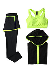Women's Tracksuit Long Sleeves Quick Dry Breathable Sports Bra Hoodie Tights Top Clothing Suits for Yoga Exercise & Fitness Running Modal