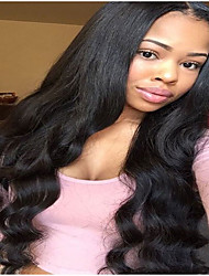 100% High Quality Brazilian Human Virgin Hair Glueless Lace Front Wig With Baby Hair For Black Woman Wholesale