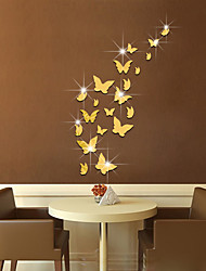 3D Wall Stickers Wall Decals Style Butterfly Fly Mirror Wall Stickers