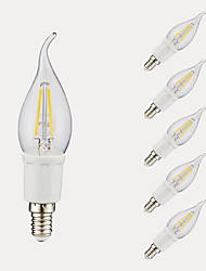 E12 LED Filament Bulbs B 4 COB 380/300 lm Warm White Cold White 6500/2700 K AC 110-130 V