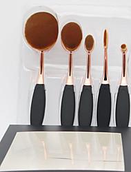 Недорогие -профессиональный Кисти для макияжа 5 шт. Закрытая чашечка Высокое качество Синтетические волосы Смола за Кисть для румян Кисть для основы Набор кистей для макияжа