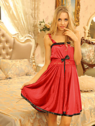 cheap -Women's Plus Size Sexy Ultra Sexy Chemises & Gowns Nightwear - Bow, Patchwork