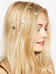6 Pcs Stars Hairpin Contracted Spiral Dish Hair Ornament Accessories Hair Clip Hair Decoration