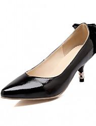 Mujer-Tacón Stiletto-Confort Innovador-Tacones-Boda Oficina y Trabajo Vestido Informal Fiesta y Noche-Sintético PU-Negro Blanco Plata Oro