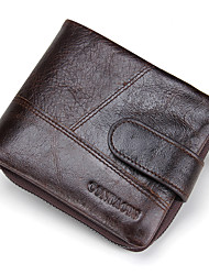 cheap -Men's Bags Cowhide Bi-fold Wallet for Shopping Casual Sports Outdoor All Seasons Coffee Brown
