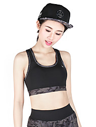 Women's Sports Bras Quick Dry Breathable Sports Bra Top for Yoga Exercise & Fitness Running Modal Polyester Black Fuchsia Army Green S M