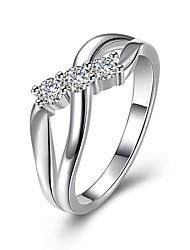 preiswerte -Damen Kristall Zirkon / Aleación Bandring - 1 Kreisform Einfach / Modisch Silber Ring Für Hochzeit / Party / Geburtstag