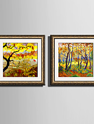 cheap -E-HOME® Framed Canvas Art The Golden Woods Framed Canvas Print One Pcs