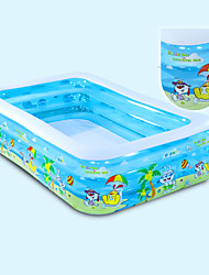 cheap -High Quality Children's Home Use Paddling Pool Large Size Inflatable Square Swimming Pool Heat Preservation Kids Paddling Pool