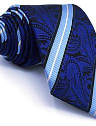 cheap -BXL8 Men's Necktie Tie Blue Paisley 100% Silk Business Fashion Wedding For Men