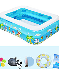 cheap -Children's Home Use Paddling Pool Large Size Inflatable Square Swimming Pool Heat Preservation Kids Paddling Pool Double Layer 122X90X40 CM