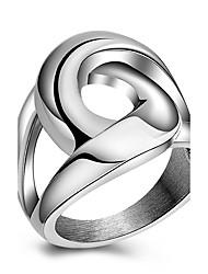 preiswerte -Ringe Party Alltag Normal Sport Schmuck Titanstahl Damen Statementringe Ring 1 Stück,6 7 8 9 Wie in der Abbildung angezeigt