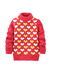Girl's Casual/Daily Floral Sweater & CardiganWool Winter Black / Green / Pink / Red / Yellow / Gray
