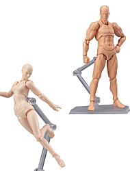 Недорогие -Деревянный человеческий манекен Дисплей Модель Наборы для моделирования Игрушки Художественные товары ПВХ Мальчики Куски