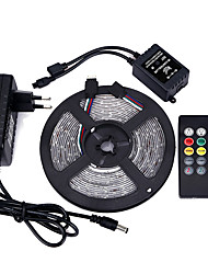 cheap -Light Sets 300 LEDs RGB Remote Control / RC Cuttable Dimmable Color-Changing Self-adhesive Suitable for Vehicles Linkable 100-240V