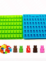 53 Hole Cavity Silicone Gummy Bear Chocolate Mold Candy Maker Ice Tray Jelly Moulds Random Color